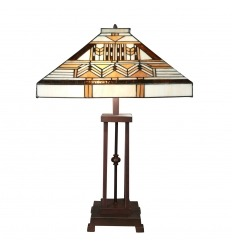 Tiffany Art Deco Lampe aus der Boston Serie