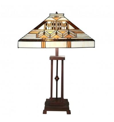 Lampada Tiffany art deco della serie Boston