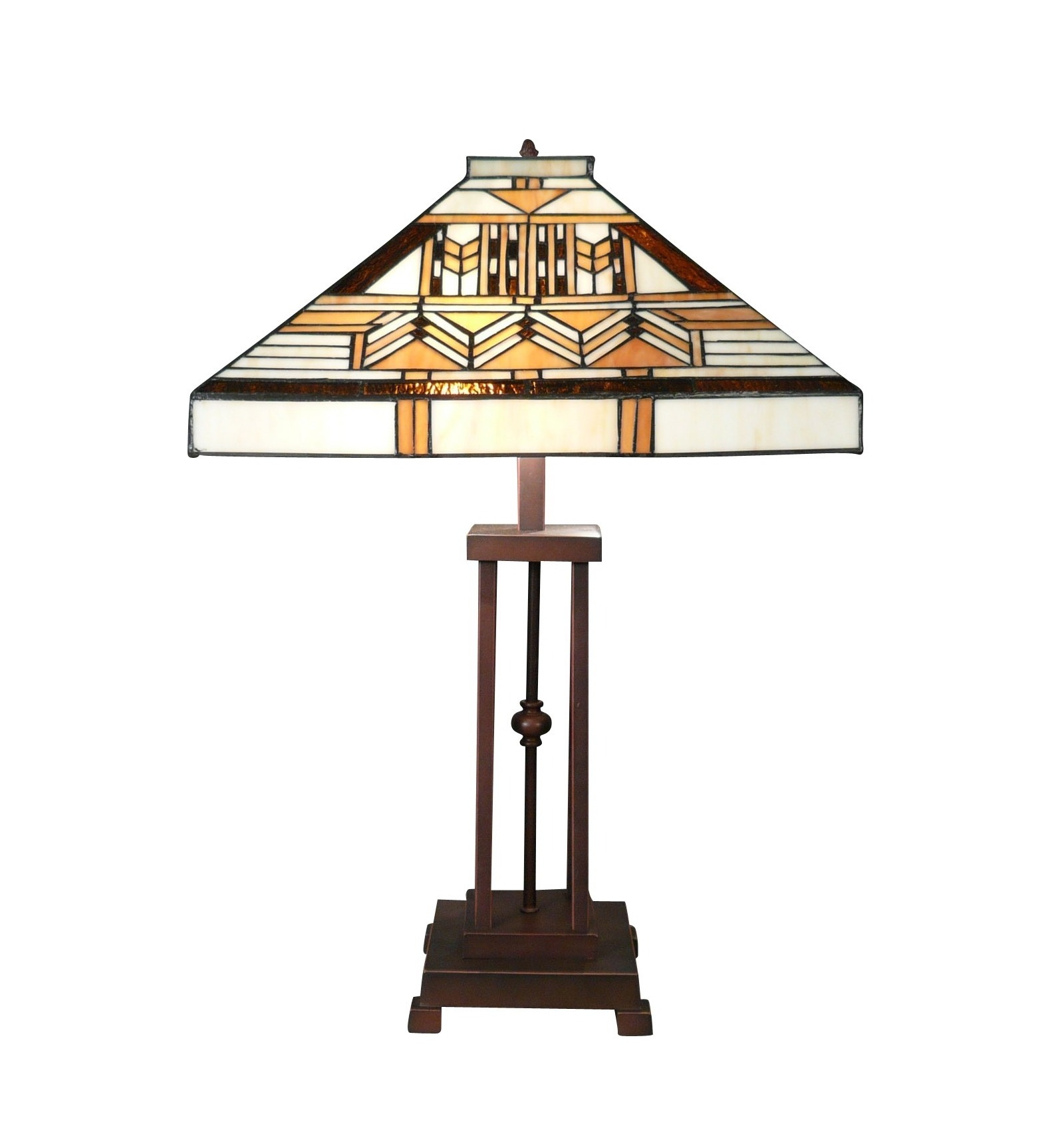 Art Deco Tiffany Lampe aus der Boston Serie - Art Deco Lamp ...