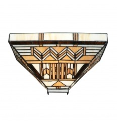 Tiffany Art Deco Wandleuchte