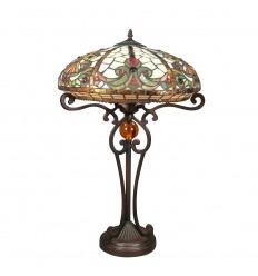 lampe tiffany femme et fleurs lampes avec une sculpture sur le pied. Black Bedroom Furniture Sets. Home Design Ideas