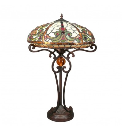 Lampe Tiffany baroque - série Indiana - Magasin de Lampe Tiffany