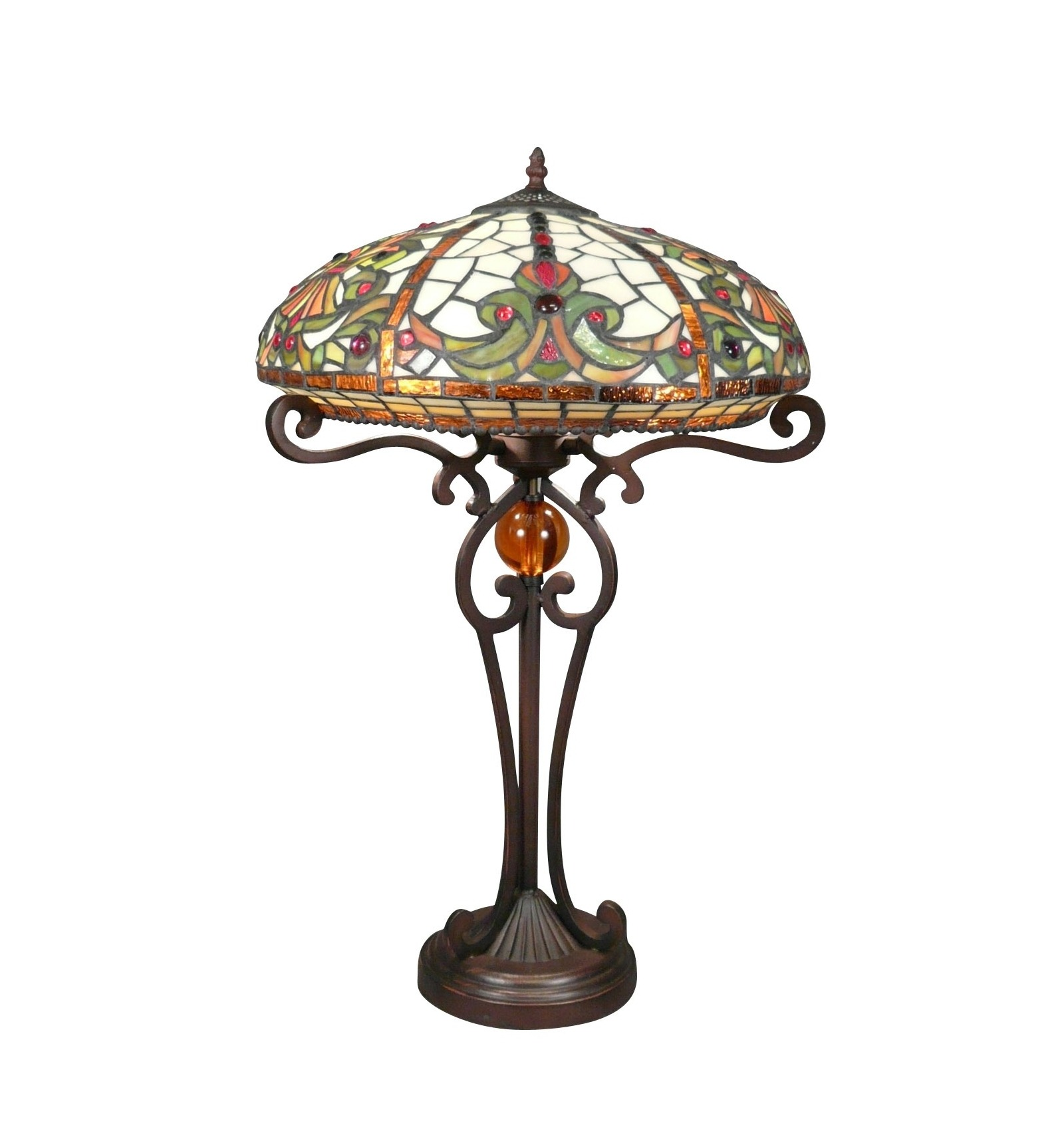 Tiffany lamp baroque of the series indiana tiffany lamps for Deco baroque