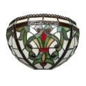 Applique Tiffany barocco Indiana - Lampada Tiffany