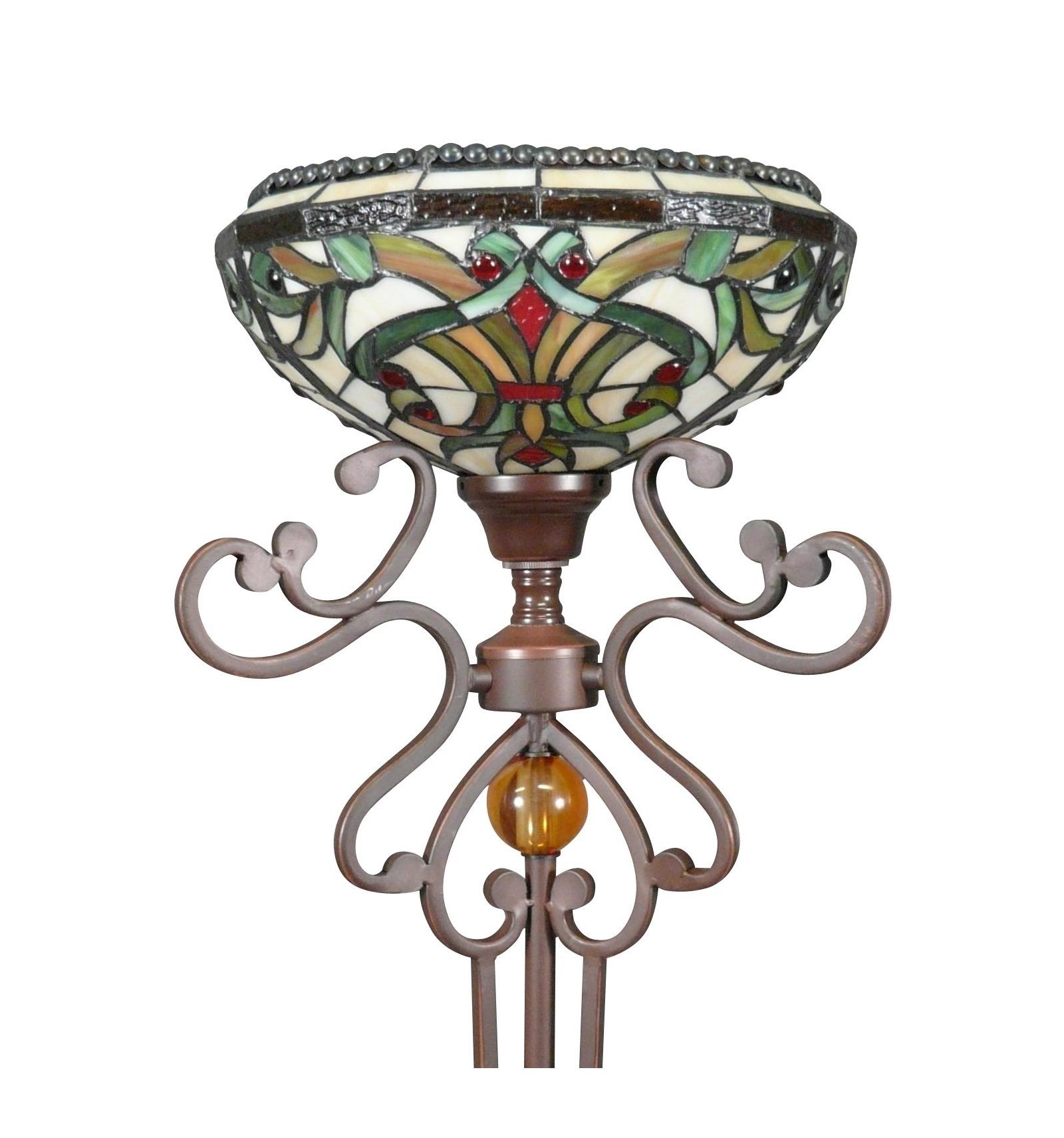 lampadari indiani : Lampada da terra Tiffany - serie Indiana