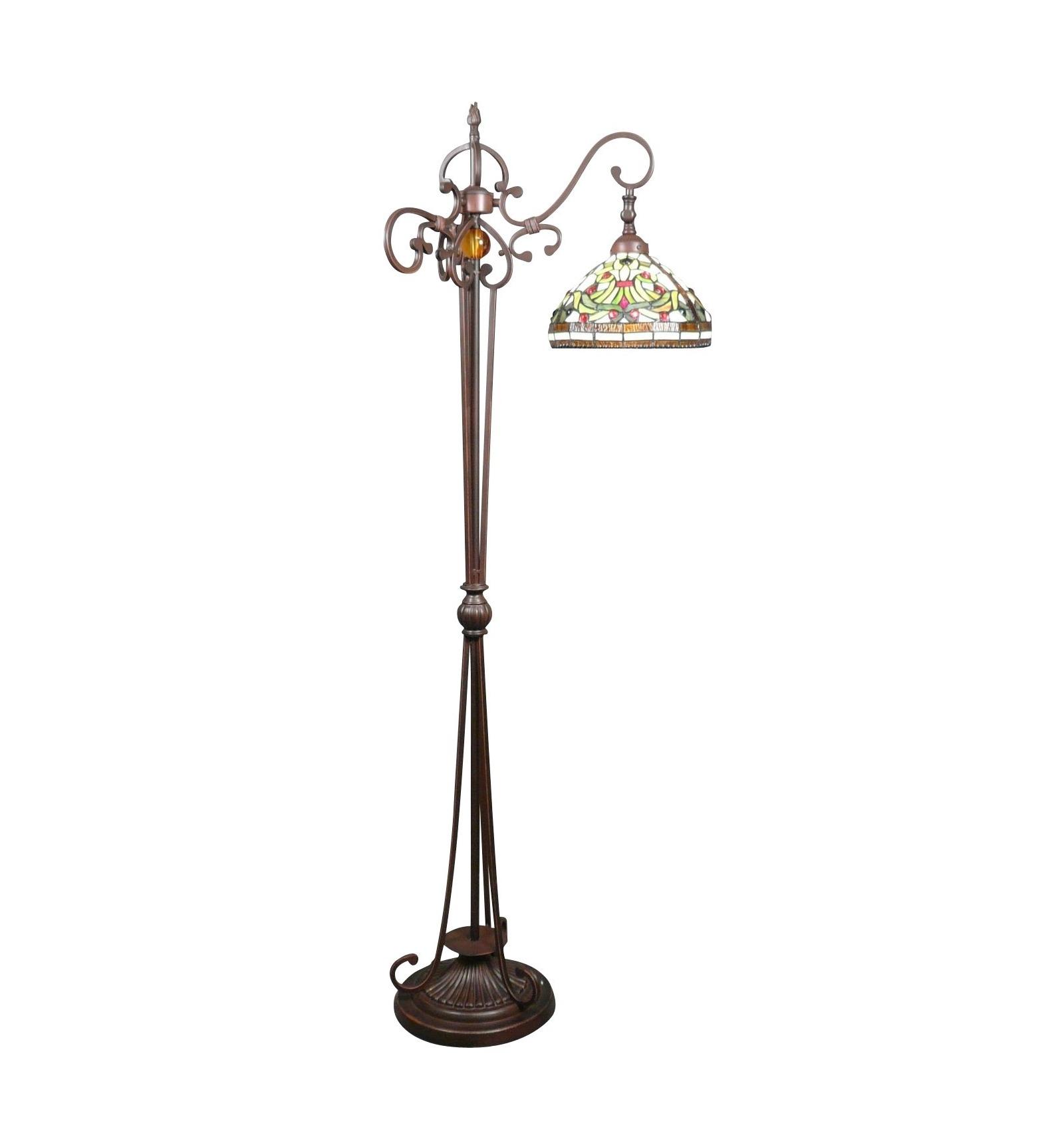 Tiffany floor lamp set indiana statues art deco furniture for Vesta tiffany floor lamp