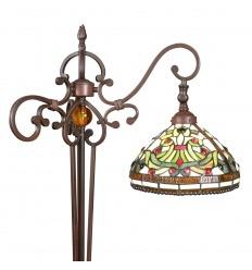 Tiffany vloerlamp - leeslamp - serie Indiana