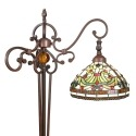 Lâmpada de assoalho Tiffany modelo Indiana