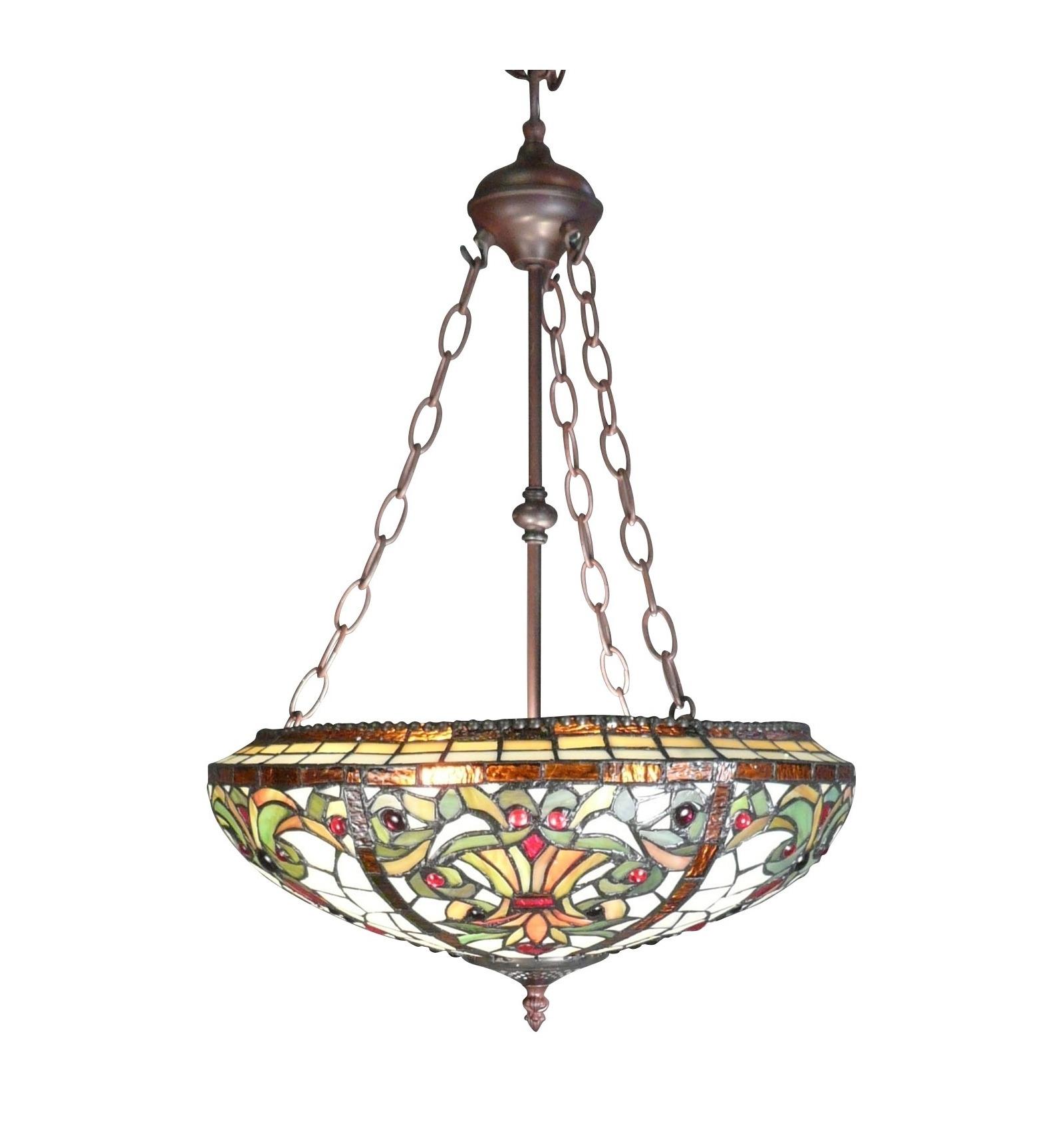 lampadari indiani : Lampada Tiffany - serie Indiana - lampadario e lampada da terra