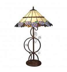 Lampada Tiffany con base asta di design