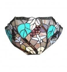 Tiffany Wandlampe mit Rebdekor
