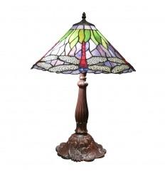 Lampada Tiffany, con libellula