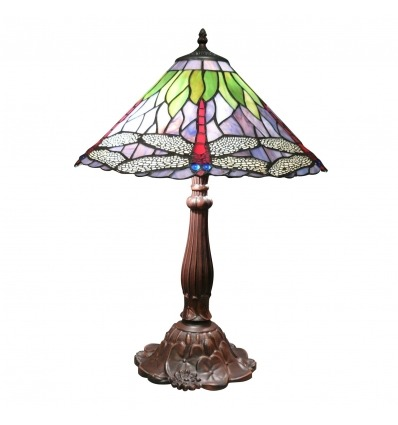 Tiffany lamp with dragonflies