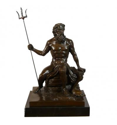 Statue en bronze de Neptune - Sculptures de dieux et déesses -