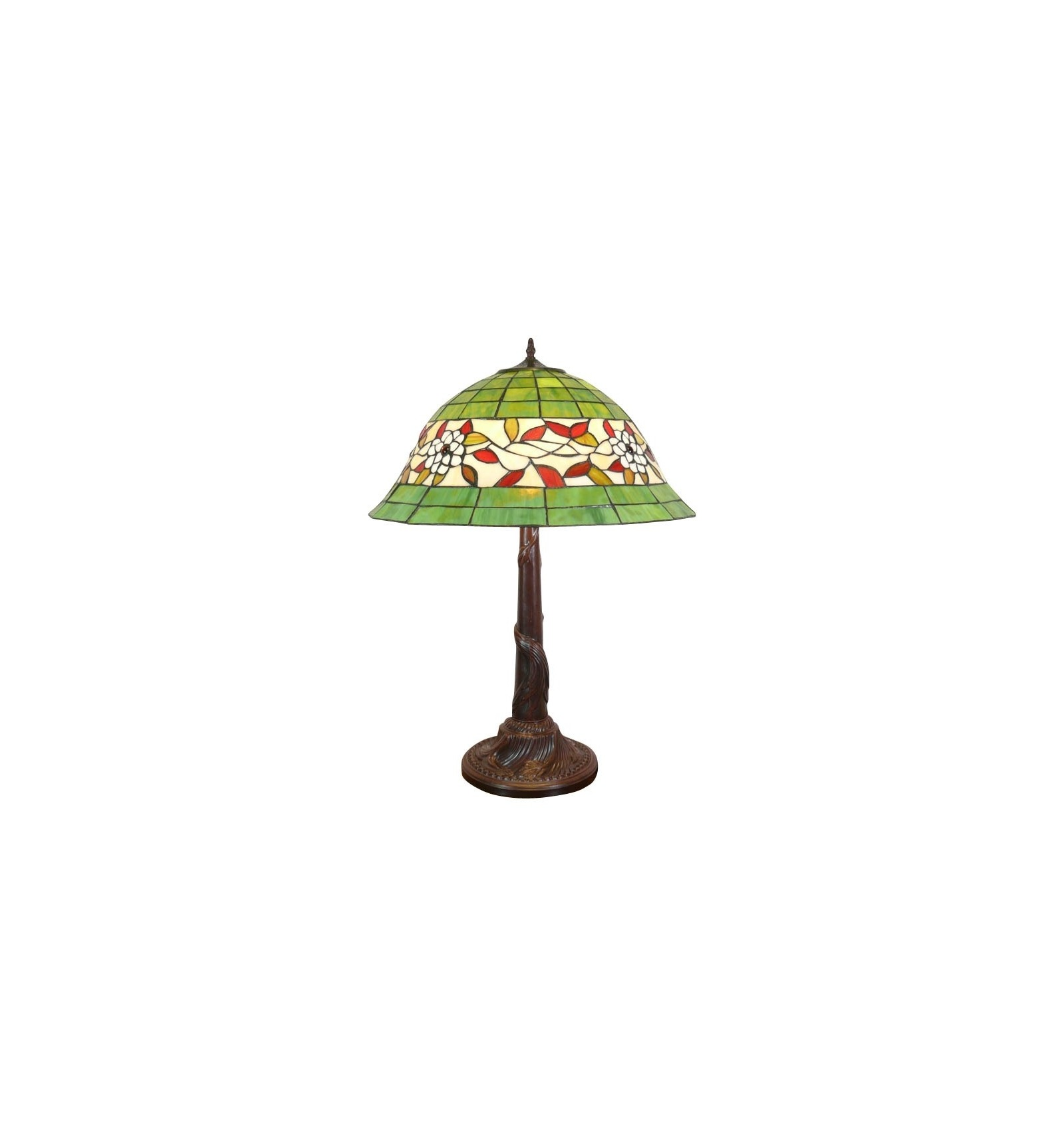 Lamp Tiffany White Background And Green Art Deco