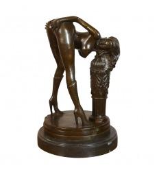 Statue en bronze art déco érotique