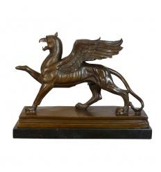Bronzestatue - Der Griiffon