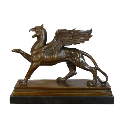 Bronze-Statue - der Griiffon - legendäre Bronze-Skulptur -