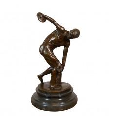 """The """"Discobole"""" bronze statue"""