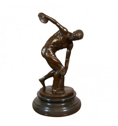 """Le """"Discobole"""" statue en bronze d'après Myron sculpteur athénien -"""