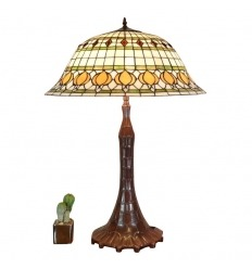 Lampada Tiffany bianca e gialla