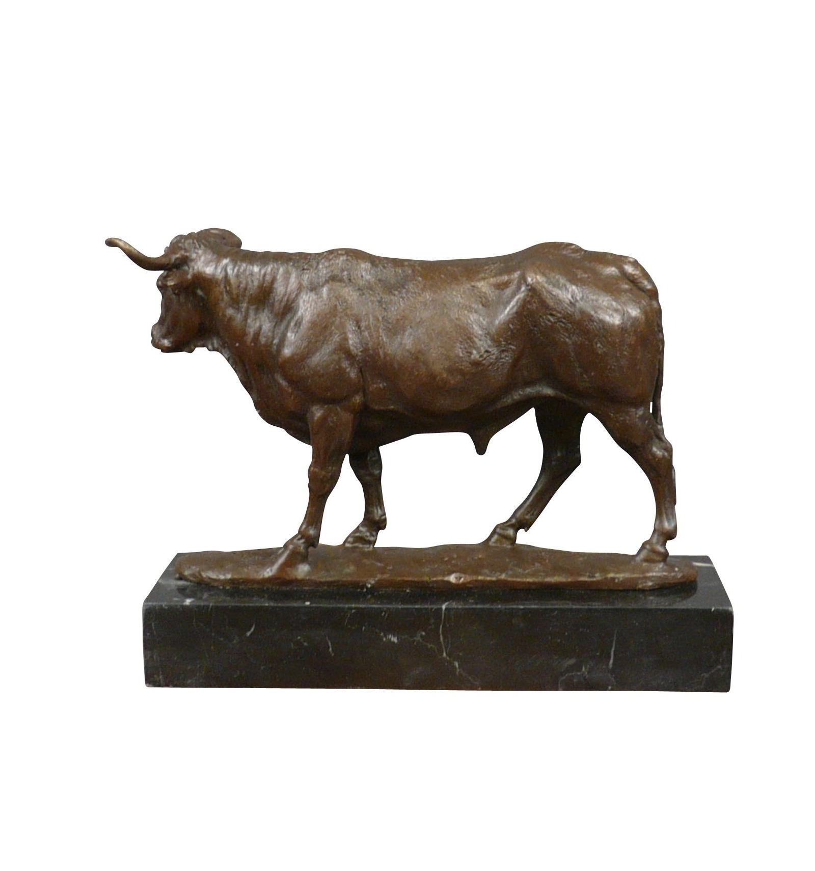 Statue In Bronze Of A Bull Sculptures And Art Deco Furniture