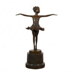 Statua in bronzo Giovane ballerina sulle punte