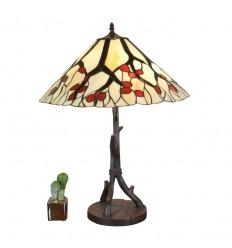 Lampada Tiffany con base a forma di albero