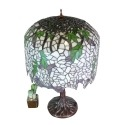 Lampe Tiffany Wisteria - Reproduction d'une lampe ancienne