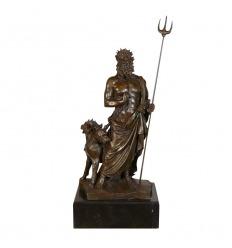 Statue en bronze de Pluton enchaînant les Cerbères
