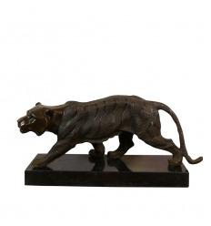 Statua art déco in bronzo - The Tiger Walk