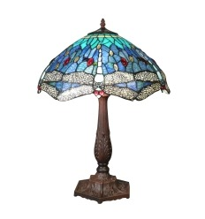 Blue dragonfly Tiffany lamp