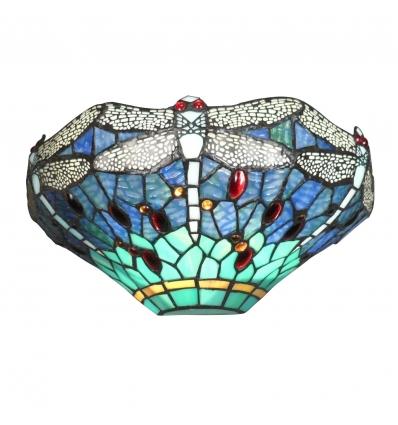 Lámpara de pared Tiffany con libélulas.