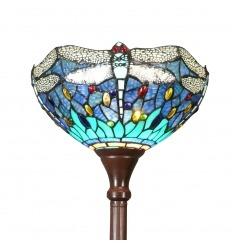 Lampadaire Tiffany libellules bleu et vert