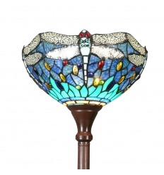 Tiffany floor lamp dragonfly blue and green - Tiffany lamps