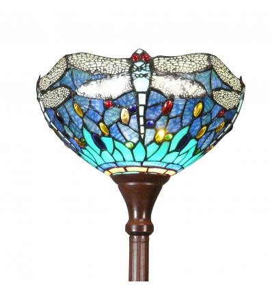 Lampada Tiffany libellula blu e verde