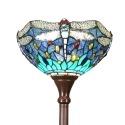 Lampada da terra Tiffany dragonfly blu e verde -