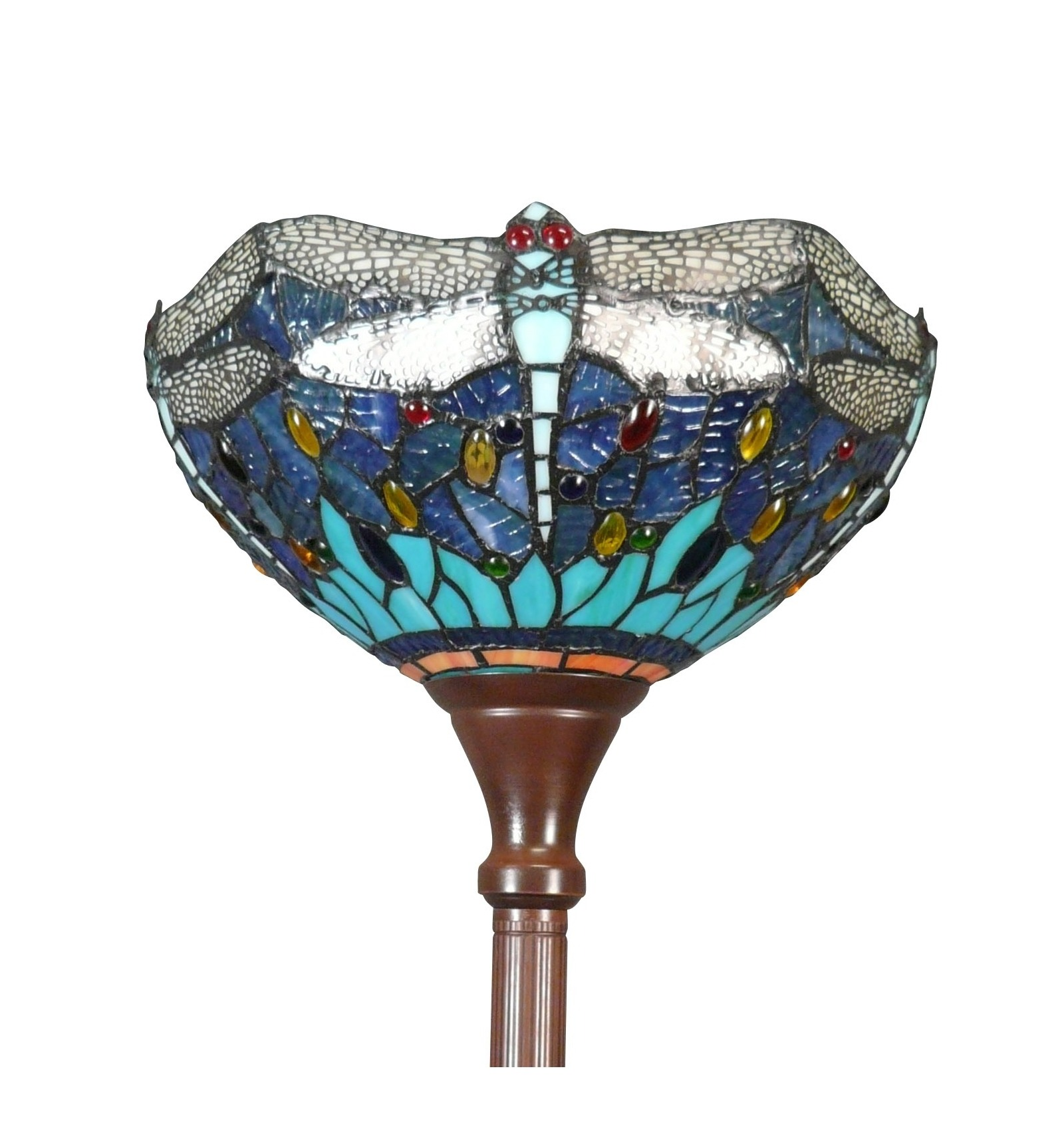 Tiffany floor lamp dragonfly blue and green tiffany lamps tiffany floor lamp dragonflies aloadofball Gallery