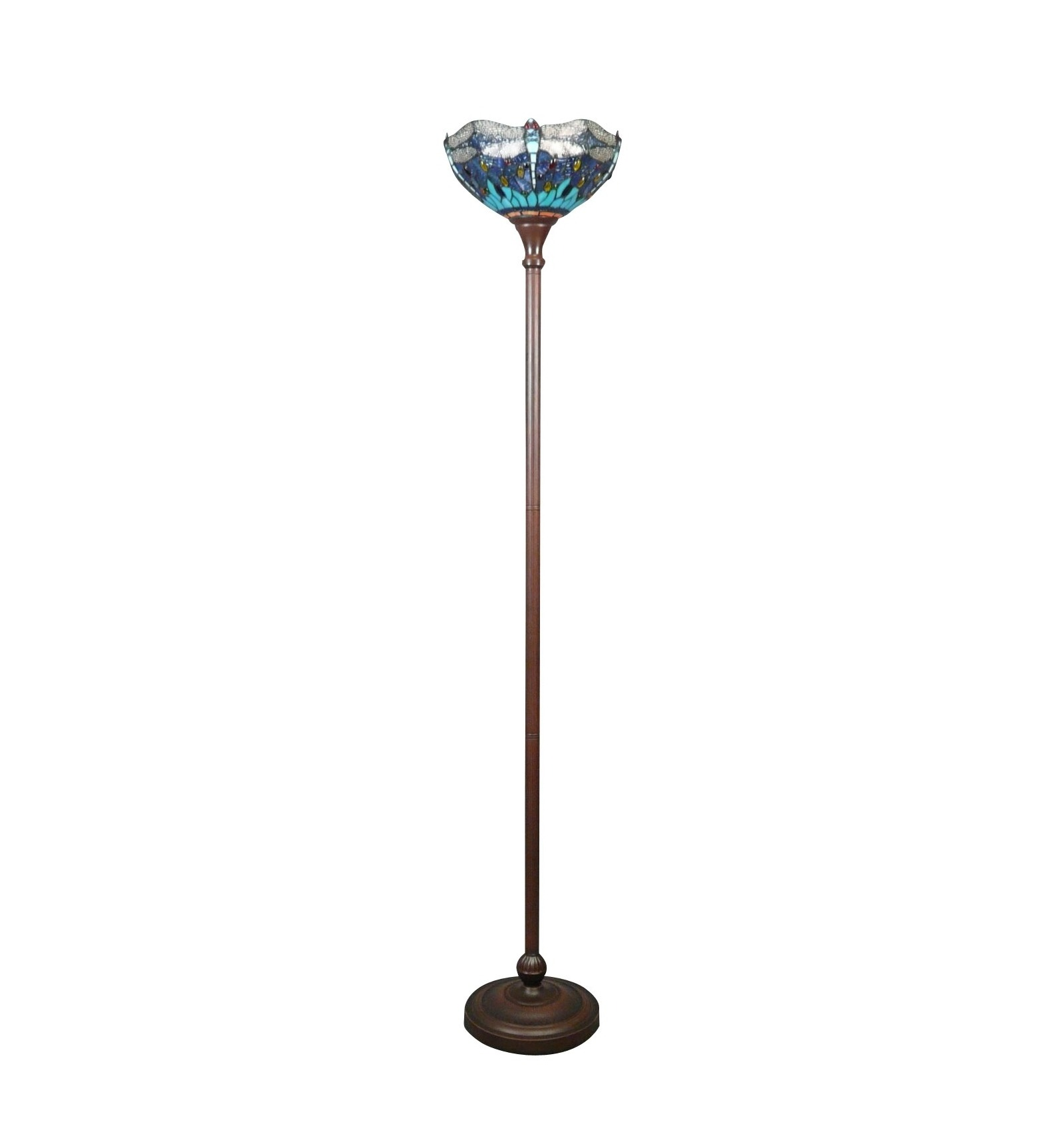 tiffany stehlampe libellen blau und gr n tiffany lampen. Black Bedroom Furniture Sets. Home Design Ideas