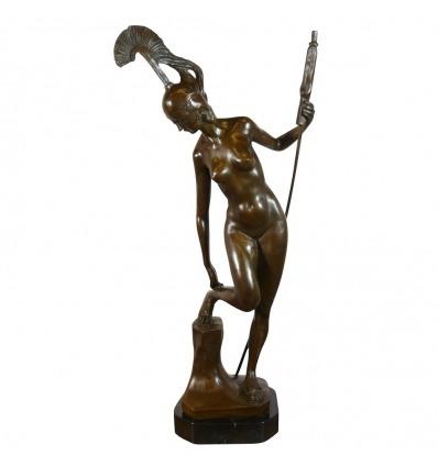 Gudinden Athena - bronze-Skulptur