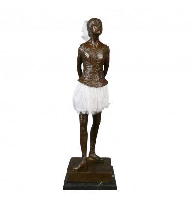 La Petite Danseuse - Statue bronze de Degas sur un socle en marbre -