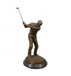 Statue en bronze - Joueur de golf