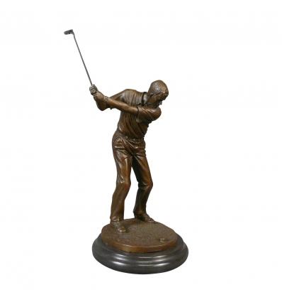 Statua di bronzo - golfista - Scultura in sport
