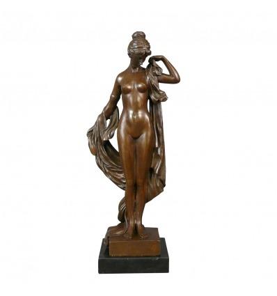 Statue grecque en bronze d'une déesse - Sculpture bronze mythologie -