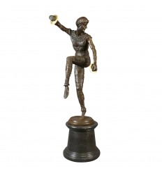 Bailarina - estatua de bronce de estilo art deco