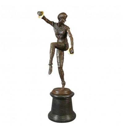 Tänzer - Art Deco Bronzestatue - Möbel und Beleuchtung