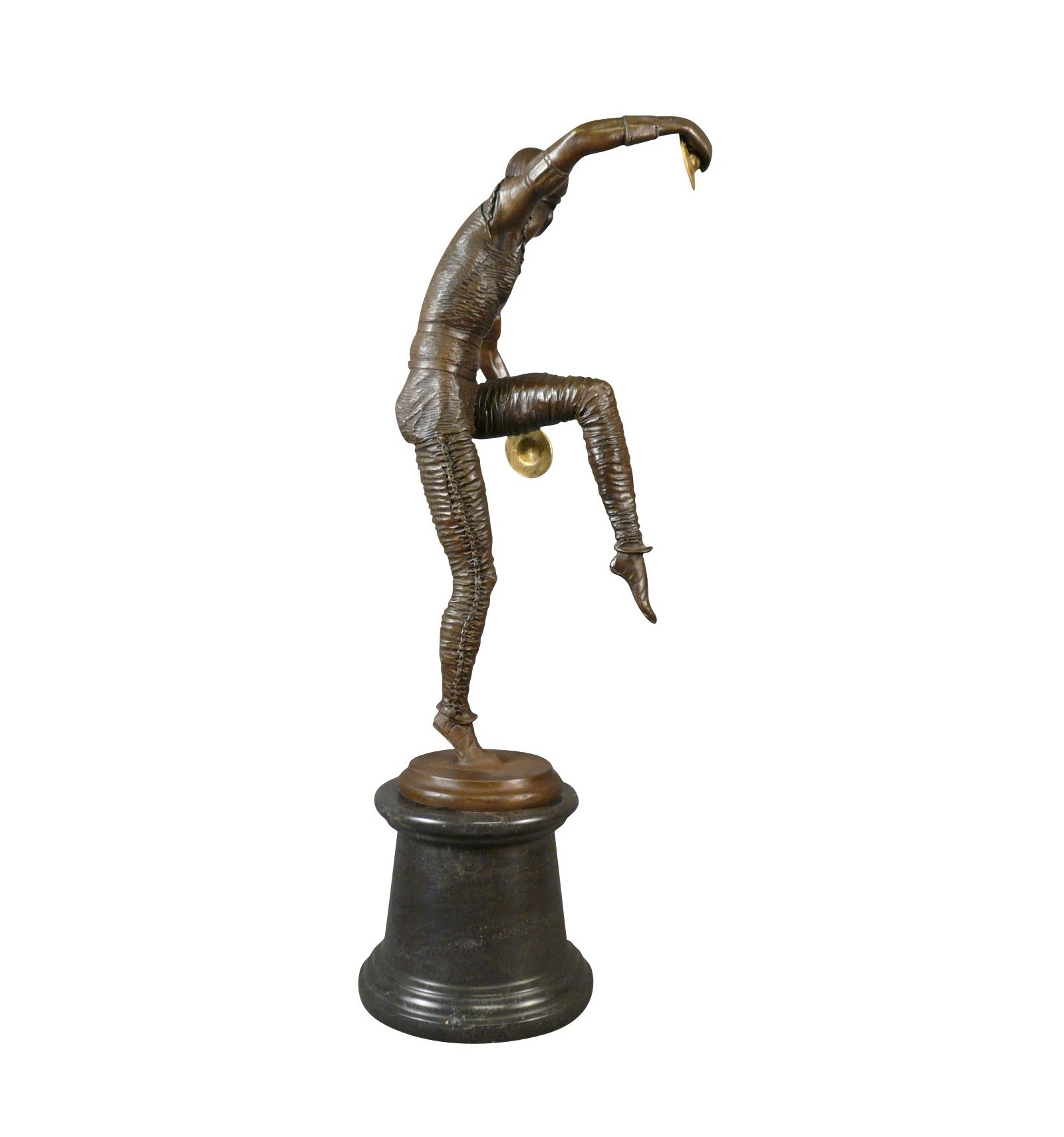 dancer bronze art deco statue. Black Bedroom Furniture Sets. Home Design Ideas