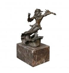 Statue en bronze de poséidon, neptune