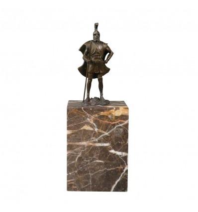 Bronzestatue eines Zenturio - Skulptur eines römischen Soldaten -