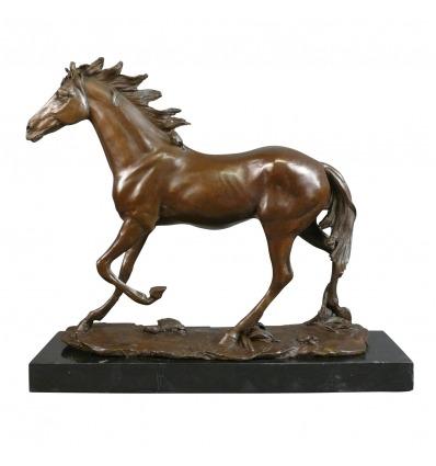 Caballo - estatua de bronce - esculturas de caballos y yeguas -